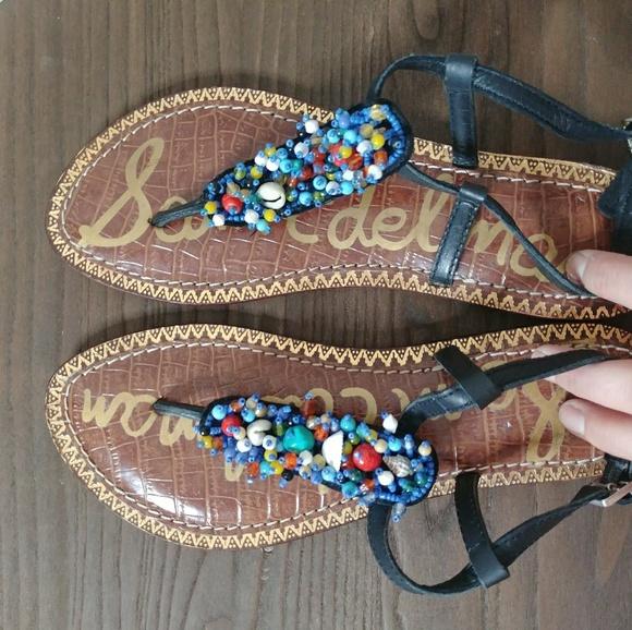 d35c5f49d Sam Edelman Gabrielle Sandal 6 Seashell Boho Beads.  M 5b0e0aea077b97feea0acb8e